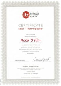 ITC CERTIFIED THERMOGRAPHER